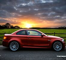 BMW 1 Series M Coupe Stormy Sunset by redlineviper
