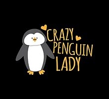 Crazy Penguin Lady  by jazzydevil