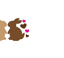 Chocolate bunnies in love by jazzydevil