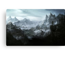 The Elder Scrolls V - Skyrim landscape Canvas Print