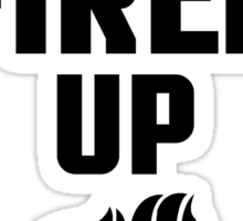 I'm All Fired Up - Black Sticker