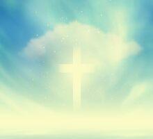 Christian Glowing Cross by Olga Altunina