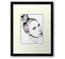 The Top Knot Framed Print