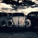The Three Amigos: VW Beetle Graveyard, Wales, UK by Alfie Goodrich