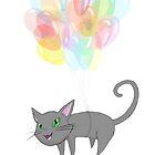 Balloon Kitty, by Krystel K