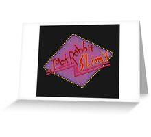 Jack Rabbit Slim's Sign Greeting Card