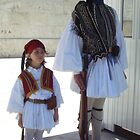"Next to an Evzone (""Tsolias"") of the Greek Presidential Guard by Fotis"