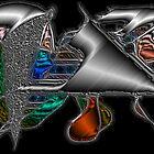Metalic abstract II by Gili Orr
