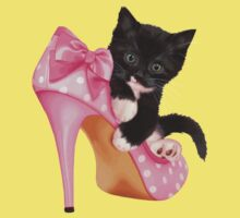 Cute Kitten with Shoe Kids Clothes