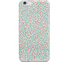 Red & Turquoise Berry Branches iPhone Case/Skin