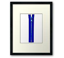 Blue zip Framed Print