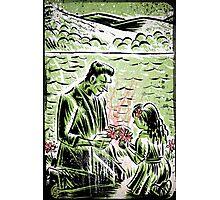 Frankenstein Boris Karloff girl flower classic picture show movie film hollywood famous monster of filmland Photographic Print