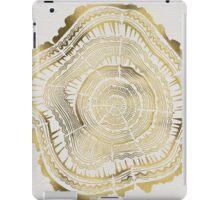 Gold Tree Rings iPad Case/Skin
