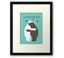 I Love You Beary Much Framed Print