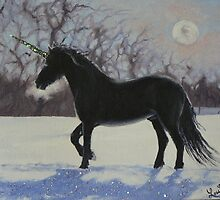 Winter Unicorn by louisegreen