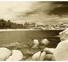 Queens Beach Bowen (sepia toned) by Nat Douglas (njd photography)
