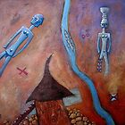Dogon man, Dogon woman by Neil Elliott