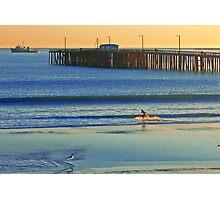 Surfer, Avila beach California. Photographic Print