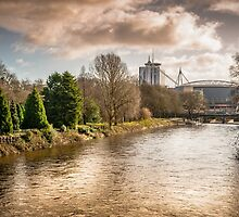 Storm over the Taff by mlphoto