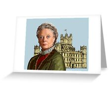 Lady Violet Crawley, Dowager Countess - Downton Abbey Greeting Card