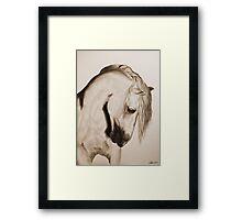 """""""To Never be Afraid"""" Sepia Framed Print"""