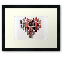 day 44: red week (toy heart) Framed Print