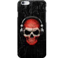 Dj Skull with Austrian Flag iPhone Case/Skin