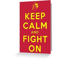 Keep Calm and Fight On (Cardinal iPhone Case) Greeting Card