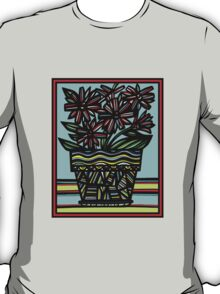 Moue Flowers Yellow Red Blue T-Shirt