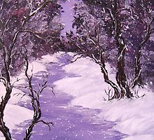 Violet Snow Night by Daniela Georgieva