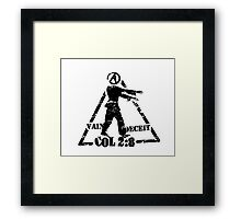Colossians 2:8  the Zombie Atheist Framed Print