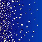 Star Shine Background Blue  by Corina Daniela Obertas
