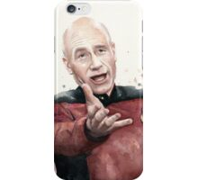 Annoyed Picard Meme Watercolor iPhone Case/Skin