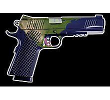 DoubleStar M1911, Earth Gun, Pistol, 2nd Amendment, USA Photographic Print