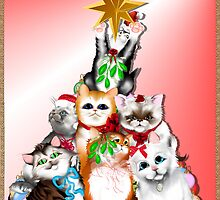 Christmas Tree Kittens by Lotacats