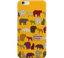 bear wolf geo party yellow iPhone Case/Skin