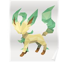 Origami Leafeon Poster