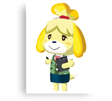 Isabelle Animal Crossing New Leaf Vector Print Canvas Print