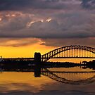 Sydney Harbour sunset by Sheila  Smart