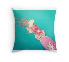 Squashed Ice-cream Throw Pillow