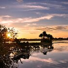 River Sunset by Karine Radcliffe