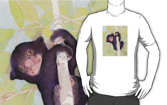 Sun Bear Cub T-shirt by Mariana Musa