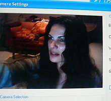 SELF PORTRAIT (OFF MY MONITOR; WEBCAM TO CAM)  by Alateia