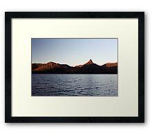 Lake St Clair Sunset Framed Print