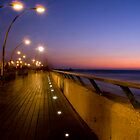 Tel Aviv Port at night by Moshe Cohen