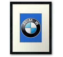 bmw logo large Framed Print