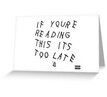 Drake Album Tee Greeting Card