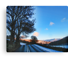 On the Road to Grasmere Canvas Print