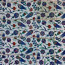 Iznik tiles, tulip pattern by cascoly