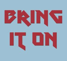 Bring It On - Fitness T-Shirt The Rock Sticker Kids Clothes